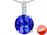Original Star K™ Large 12mm Round Simulated Tanzanite Pendant style: 307347