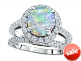 Original Star K™ 8mm Round Created Opal Engagement Wedding Set style: 307400