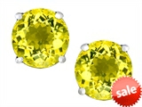 Original Star K™ Round 7mm Simulated Yellow Sapphire Earrings Studs style: 307517