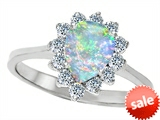 Original Star K™ 8x6mm Pear Shape Created Opal Engagement Ring style: 307519