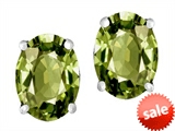 Original Star K™ Oval 8x6mm Simulated Green Tourmaline Earrings Studs style: 307524
