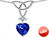 Celtic Love by Kelly Love Knot Pendant with 8mm Heart Shape Simulated Tanzanite