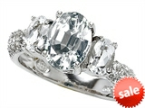 Original Star K™ 9x7mm Oval Genuine White Topaz Engagement Ring style: 307539