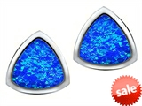 Original Star K™ 7mm Trillion Cut Created Blue Opal Earrings Studs style: 307543