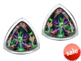 Original Star K™ 7mm Trillion Cut Rainbow Mystic Topaz Earrings Studs style: 307546