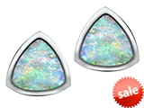 Original Star K™ 7mm Trillion Cut Created Opal Earrings Studs style: 307547
