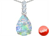 Original Star K™ Large 14x10mm Pear Shape Created Opal Pendant style: 307559