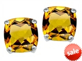 Original Star K™ Cushion Cut 7mm Genuine Citrine Earrings Studs style: 307575