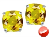 Original Star K™ Cushion Cut 7mm Simulated Yellow Sapphire Earrings Studs style: 307578