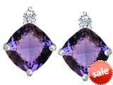 Original Star K™ 7mm Cushion Cut Simulated Alexandrite Earrings Studs style: 307579