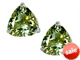 Original Star K™ Trillion 7mm Simulated Green Tourmaline Earring Studs