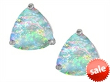 Original Star K™ Trillion 7mm Created Opal Earrings Studs style: 307590