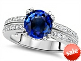 Original Star K™ Round 7mm Created Sapphire Engagement Wedding Ring style: 307605