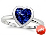 Tommaso Design™ 7mm Heart Shape Created Sapphire Engagement Solitaire Ring style: 307636