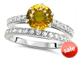 Original Star K™ Round 7mm Genuine Citrine Engagement Wedding Ring style: 307695