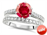Original Star K™ Round 7mm Created Ruby Engagement Wedding Ring style: 307701
