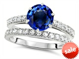Original Star K™ Round 7mm Created Sapphire Engagement Wedding Ring style: 307702