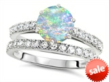 Original Star K™ Round 7mm Created Opal Engagement Wedding Ring style: 307703
