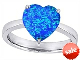 Original Star K™ Large 10mm Heart Shape Solitaire Engagement Ring with Created Blue Opal style: 307705