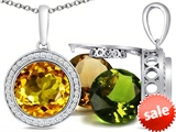 Switch-It Gems™ Round 10mm Simulated Cirtine Pendant with 12 Interchangeable Simulated Birthstones style: 307768