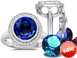 Switch-It Gems™ Round 10mm Simulated Sapphire Ring with 12 Interchangeable Simulated Birthstones style: 307776