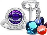 Switch-It Gems™ Round 10mm Simulated Amethyst Ring with 12 Interchangeable Simulated Birthstones style: 307777