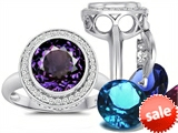 Switch-It Gems™ Round 10mm Simulated Alexandrite Ring with 12 Interchangeable Simulated Birthstones style: 307778