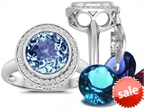 Switch-It Gems™ Round 10mm Simulated Aquamarine Ring with 12 Interchangeable Simulated Birthstones style: 307779