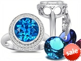 Switch-It Gems™ Round 10mm Simulated Blue Topaz Ring with 12 Interchangeable Simulated Birthstones style: 307780
