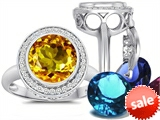 Switch-It Gems™ Round 10mm Simulated Citrine Ring with 12 Interchangeable Simulated Birthstones style: 307781