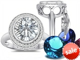 Switch-It Gems™ Round 10mm Simulated Diamond Ring with 12 Interchangeable Simulated Birthstones