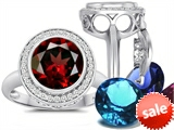 Switch-It Gems™ Round 10mm Simulated Garnet Ring with 12 Interchangeable Simulated Birthstones style: 307784