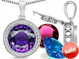 Switch-It Gems™ Round 12mm Simulated Amethyst Pendant with 12 Interchangeable Simulated Birthstones