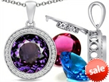 Switch-It Gems™ Round 12mm Simulated Alexandrite Pendant with 12 Interchangeable Simulated Birthstones style: 307798