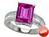 Original Star K™ 10x8mm Emerald Cut Created Pink Sapphire Engagement Ring style: 307808
