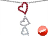 Original Star K™ Dangling Heart with Round Created Ruby Pendant