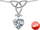 Celtic Love by Kelly ™ Love Knot Pendant with 8mm Heart Shape Genuine White Topaz style: 307829
