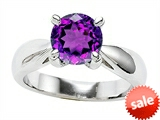 Original Star K™ 7mm Round Genuine Amethyst Engagement Ring style: 307832