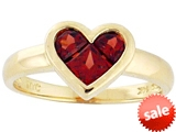 Tommaso Design™ Genuine Garnet Invisible Set Heart Ring style: 307838