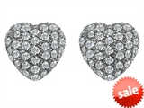 Original Star K™ Small Puffed Heart Love Earrings with Cubic Zirconia