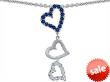 Original Star K™ Dangling Heart with Round Created Sapphire Pendant