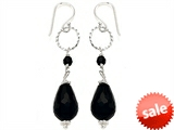 Noah Philippe™ Pear Shape Simulated Black Onyx Dangling Drop Earrings style: 307885