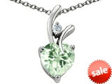 Original Star K™ 8mm Heart Shape Genuine Green Amethyst Heart Pendant style: 307892