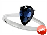 Tommaso Design™ Genuine Sapphire Pear Shape 8x6mm Solitaire Engagement Ring style: 307899