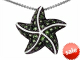 Original Star K™ Starfish Pendant With Round Simulated Peridot