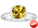 Tommaso Design™ 7mm Cushion Cut Genuine Citrine Engagement Solitaire Ring style: 307901