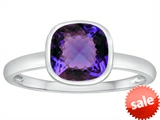 Tommaso Design™ 7mm Cushion Cut Simulated Alexandrite Engagement Solitaire Ring style: 307905