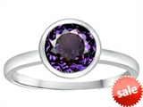 Tommaso Design™ 7mm Round Simulated Alexandrite Engagement Solitaire Ring