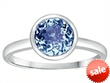 Tommaso Design™ 7mm Round Simulated Aquamarine Engagement Solitaire Ring style: 307918