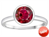 Tommaso Design™ 7mm Round Created Ruby Engagement Solitaire Ring